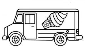 camión de helado para colorear