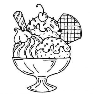helado para colorear